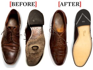 Instead of buying new shoes, resole and reheel for a fraction of the price!
